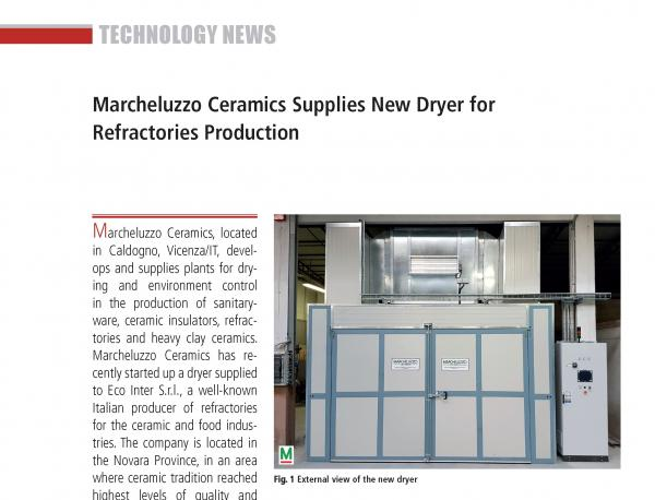 Eco-Inter (Ita) adopts new refractory drying technologies