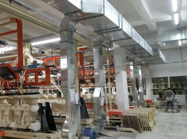 Sistema acondicionamiento Spagless sala de colada